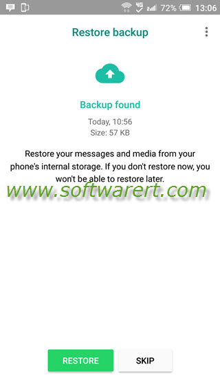 restore whatsapp chats and data backup to android phone