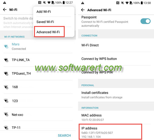 How to find ip address of a mobile number