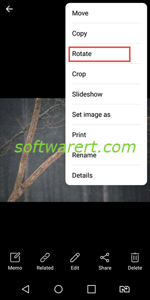 rotate photo in gallery on lg mobile phone