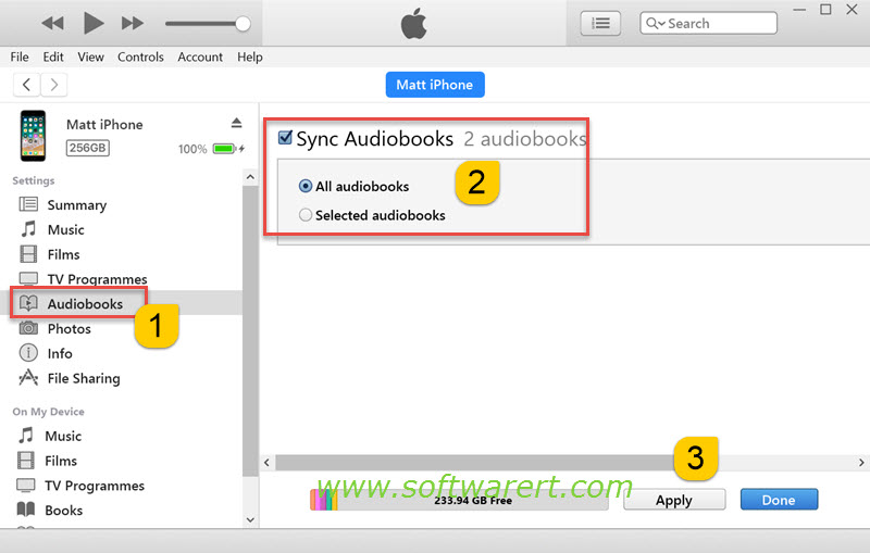 itunes audiobooks iphone how do i import mp3 audiobooks into ibooks on my iphone 7954