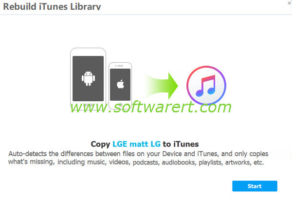 Transfer Android music to iTunes library