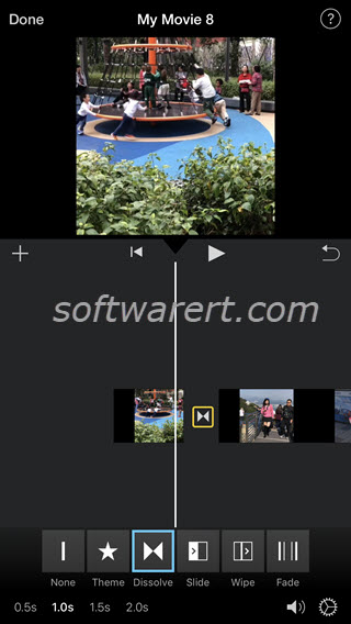 combine video clips in imovie on iphone