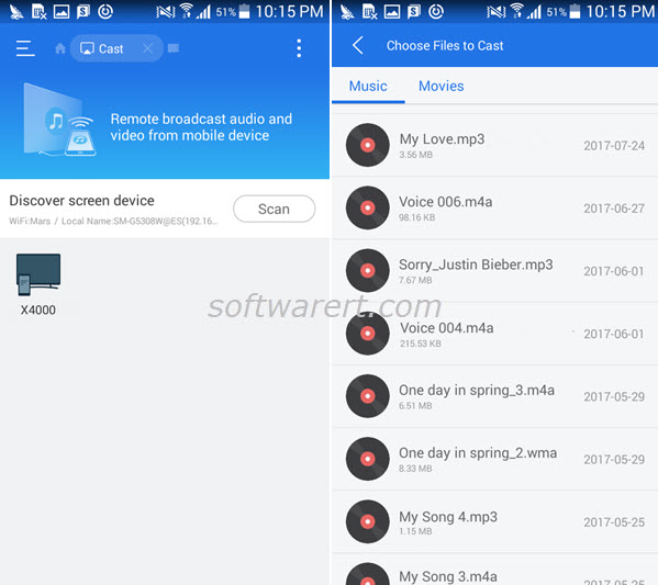 Cast music & videos from Android to TV using ES file manager