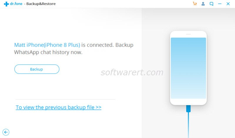 backup whatsapp chat history iphone to pc dcfon