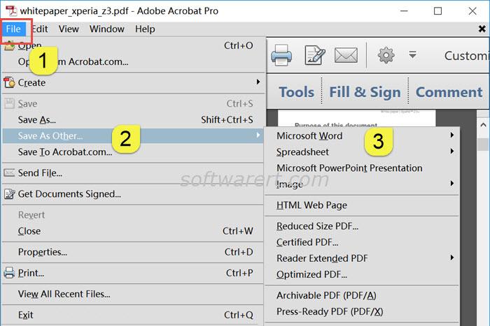 Convert a PDF to Word using Adobe Acrobat - Software RT