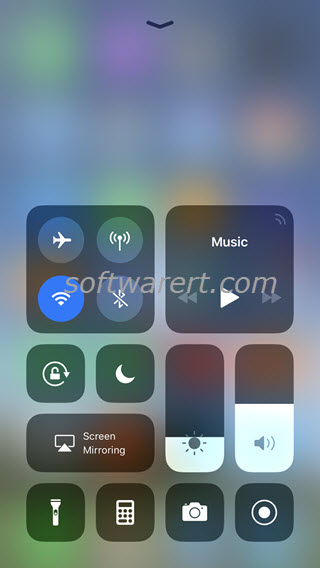 iphone 8 plus control center