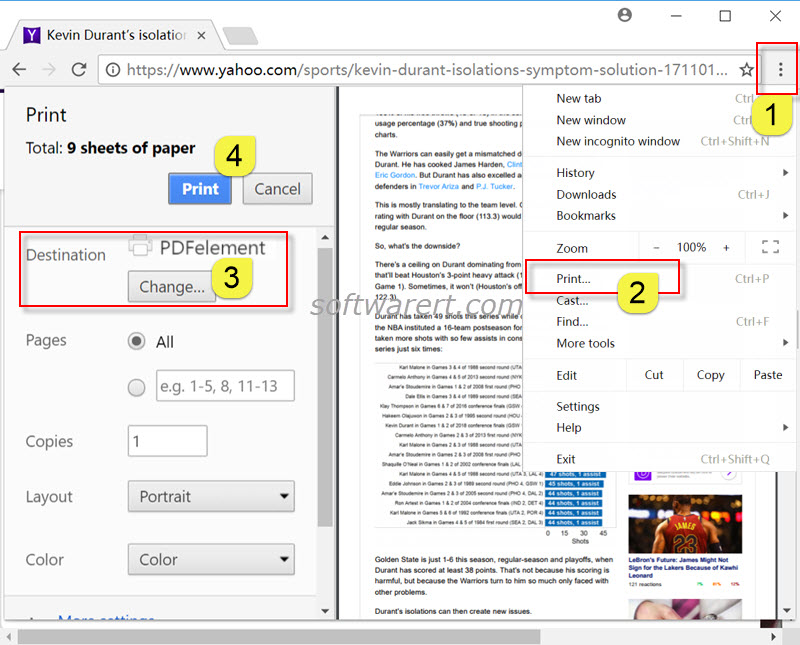 save a web page as pdf in chrome browser for windows using pdfelement