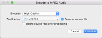 encode to mpeg audio on mac