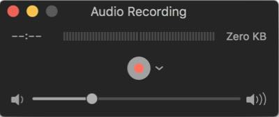 record audio using quicktime player on Mac for free