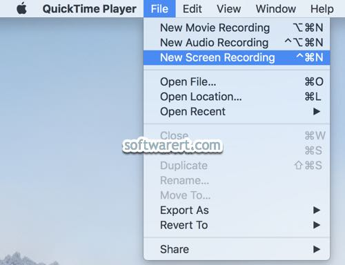 quicktime player to record screen on mac