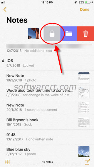 lock private photos in notes on iphone