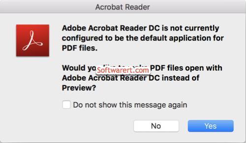 make adobe acrobat reader dc the default pdf application on mac - prompt
