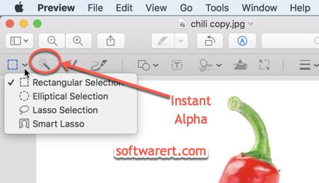 selection tools in preview on mac