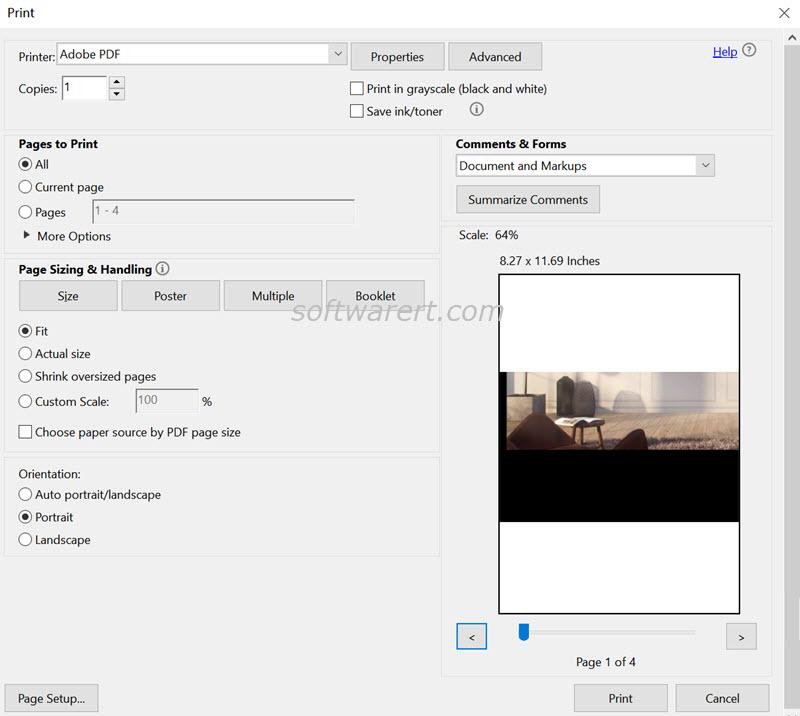 adobe acrobat pro dc windows use adobe pdf printer to make pages same size