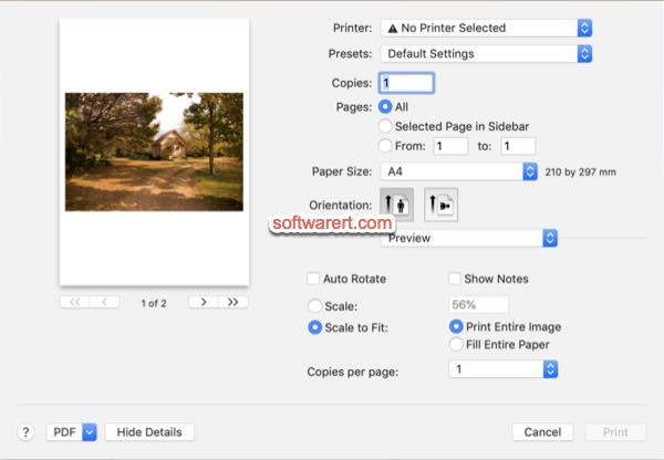 make all pdf pages same size using preview print on amac