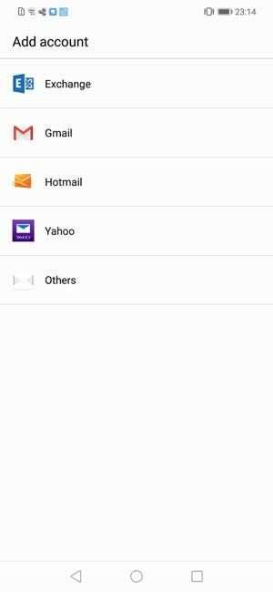 add email account to huawei mobile phone