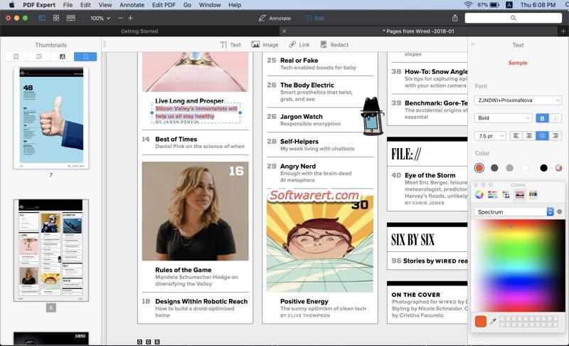 pdf expert - pdf editor for Mac - edit text in pdf