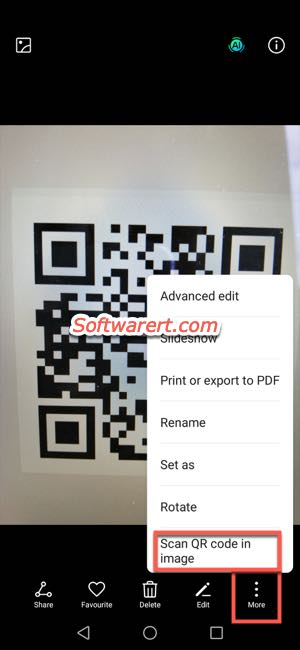 scan qr code from image on huawei phone