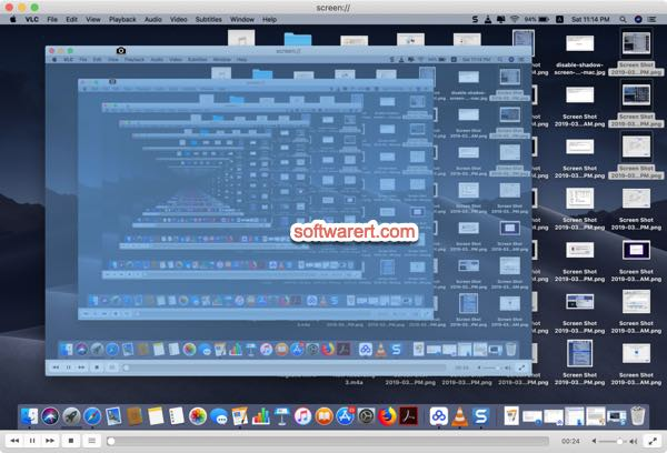 display Mac screen in VLC media player