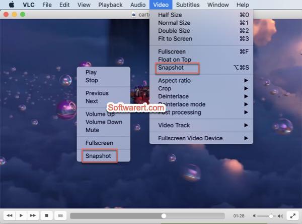 take video snapshots VLC media player for mac