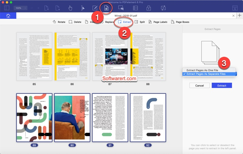 extract PDF pages on Mac using PDF Element