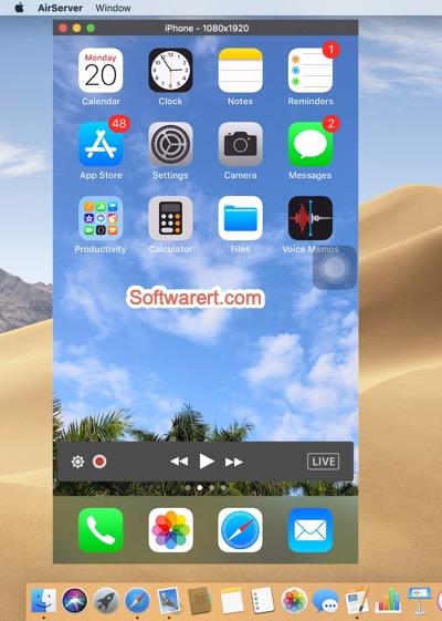 mirror iPhone screen to Mac airserver