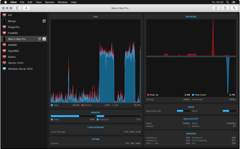 iStat View - remote monitoring app for mac