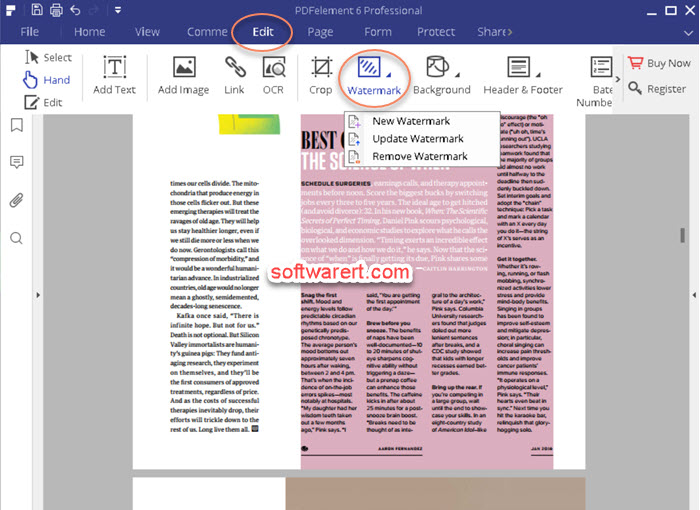 add watermark to pdf - pdf element for Windows