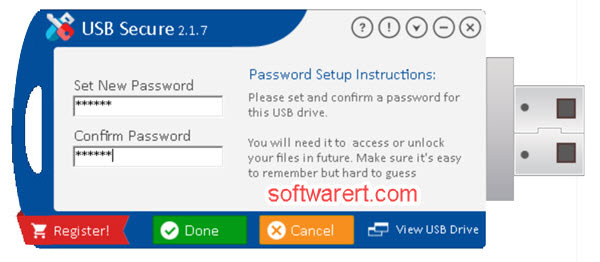 setup password usb secure