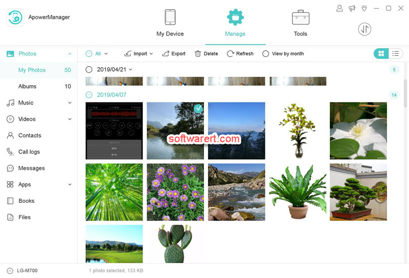 Apower Phone Manager for windows manage android mobile phone photos