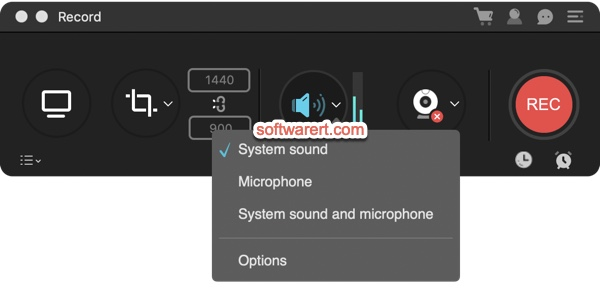 ApowerREC screen recorder for Mac sound recording devices and options