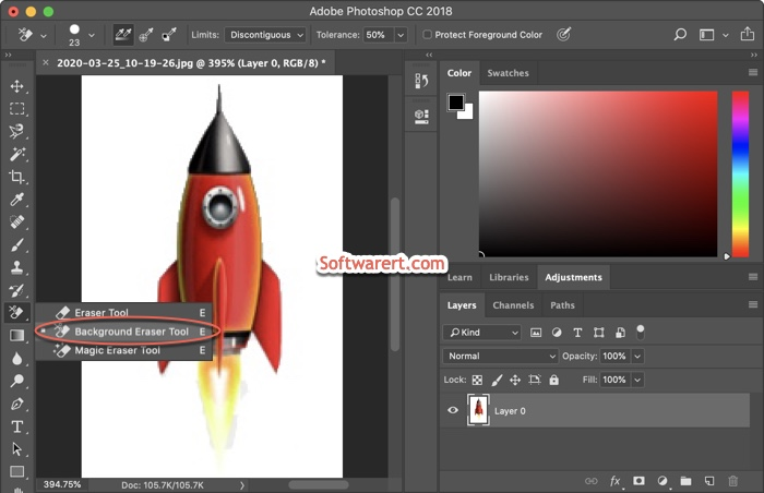 photoshop cc for Mac Background Eraser Tool and settings