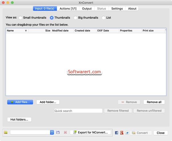 xnconvert for mac - input