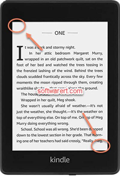 Take a screenshot on Kindle PaperWhite