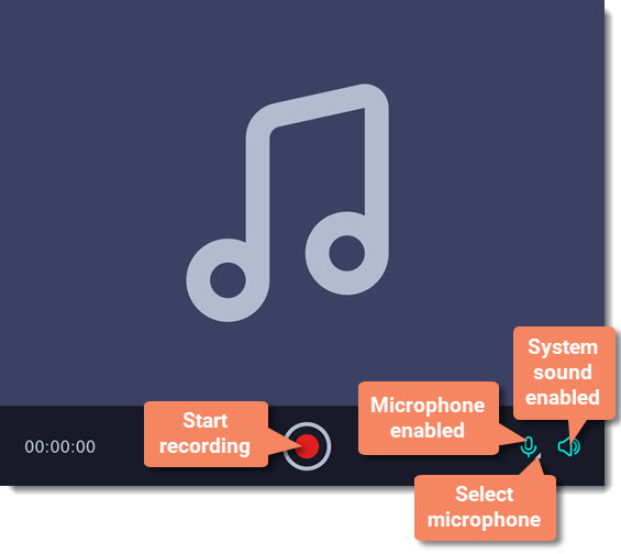 movavi screen recorder recording audio only