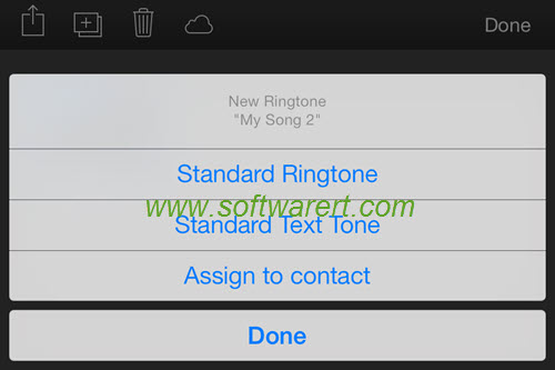 activate ringtone, text tone on iphone from garageband