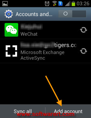 add account to Android