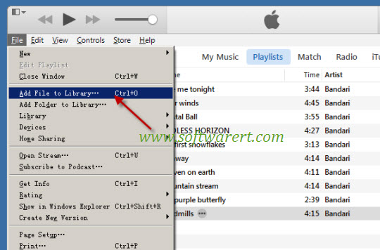 add file to itunes library on pc
