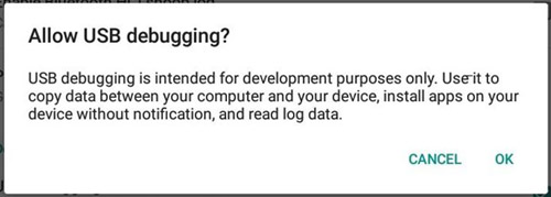 allow usb debugging on Android