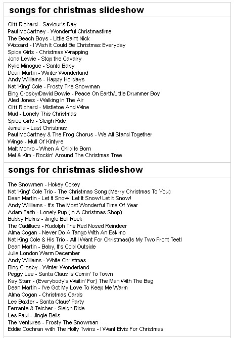 christmas songs suggestion