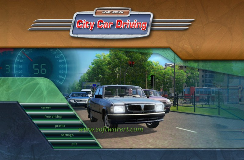 city car driving game home interface