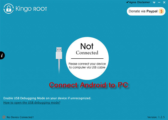 connect android device to computer for android rooting
