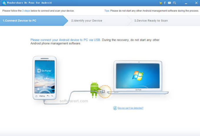 connect HTC android phone to computer for recovery