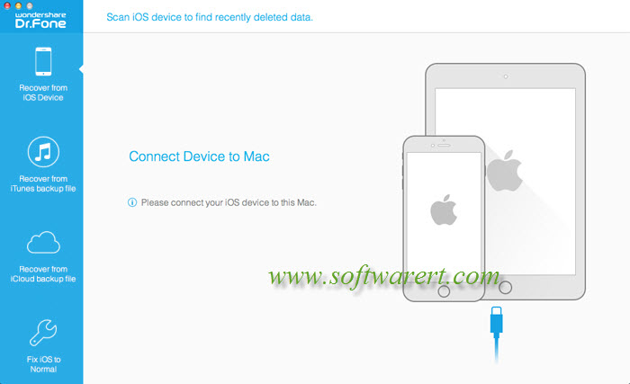 connect iphone to mac in iphone data recovery