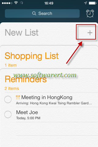 how to delete a reminder list on iphone