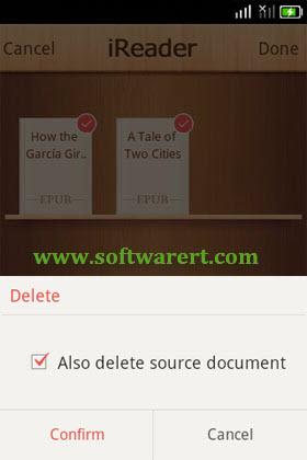 delete epub source document in ireader