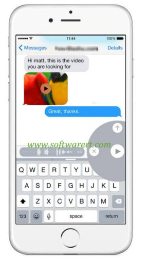delete, play or send voice messages on iphone