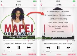 How to display lyrics on iPhone?