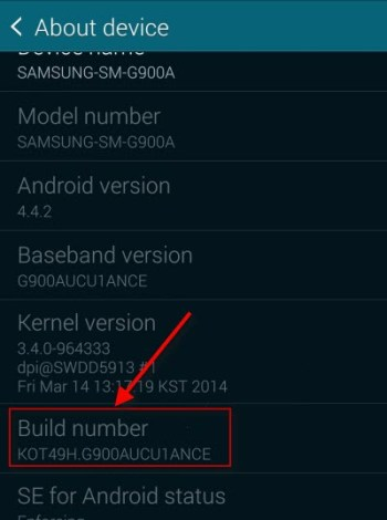 enable developer options samsung galaxy