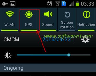 enable disable GPS location on samsung mobile phone